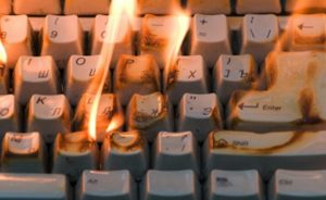 Fire and smoke can cause serious damage to computers and other electronics.